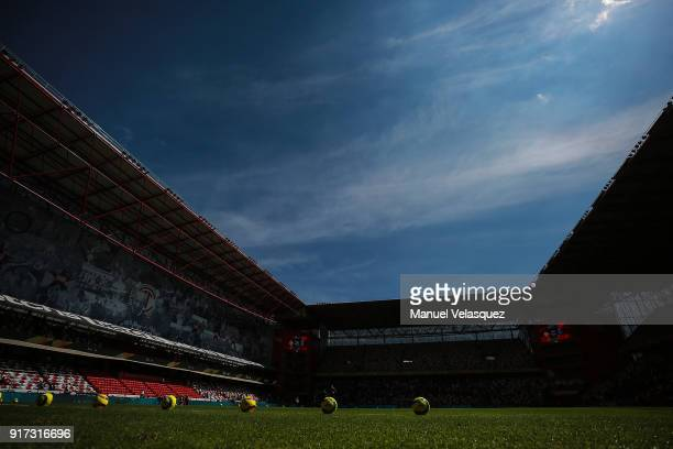 General view of the Nemesio Diez Stadium prior the 6th round match between Toluca and Monterrey as part of the Torneo Clausura 2018 Liga MX at...