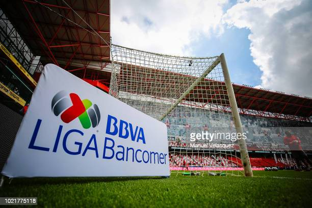 General view of the Nemesio Diez Stadium prior the fifth round match between Toluca and Tijuana as part of the Torneo Apertura 2018 Liga MX at...