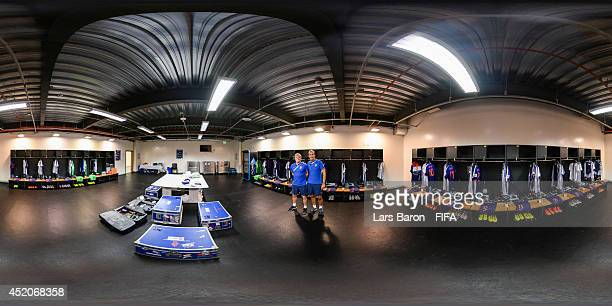 General view of the Netherlands dressing room before the 2014 FIFA World Cup Brazil Play-off for third place match between Brazil v Netherlands at...