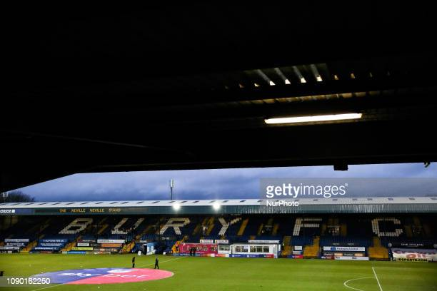 A general view of the Nevile Neville Stand during the Sky Bet League 2 match between Bury and Lincoln City at Gigg Lane Bury on Saturday 26th January...