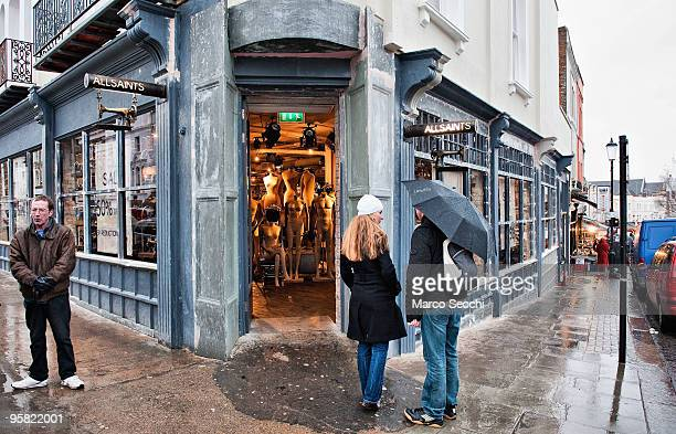 General View of the new 15000 sq ft AllSaints store on two floors in Portobello Road on January 16 2010 in London England Portobello traders fear for...