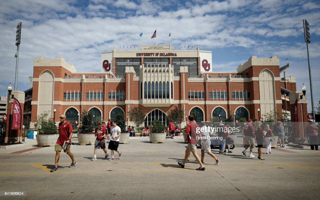 A general view of the new addition on the south end of the stadium before the UTEP vs. Oklahoma Sooners game at Gaylord Family Oklahoma Memorial Stadium on September 2, 2017 in Norman, Oklahoma.