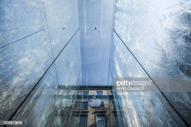 A general view of the new Apple Store Liberty the first Italian flagship store of Apple in Milan on July 26 2018