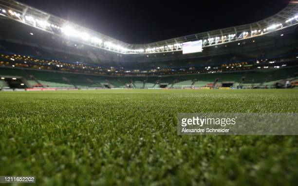 General view of the new artificial grass of Allianz Parque stadium before the match between Palmeiras and Guarani PAR for the Copa CONMEBOL...