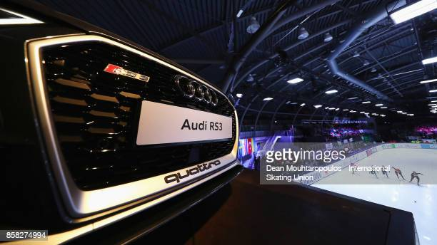 A general view of the new Audi RS3 Quattro during the mens 1000m Preliminaries during the Audi ISU World Cup Short Track Speed Skating at Optisport...