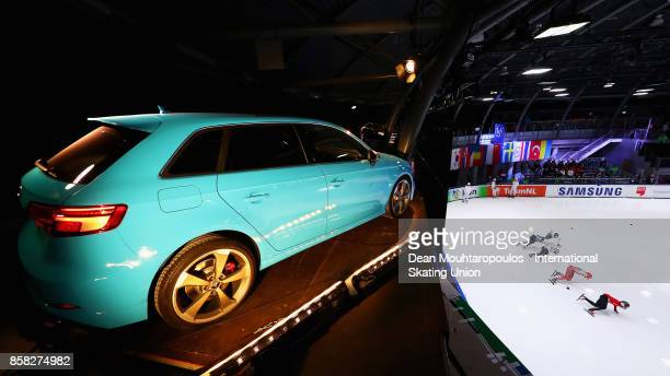 A general view of the new Audi S3 during the mens 1000m Preliminaries during the Audi ISU World Cup Short Track Speed Skating at Optisport...