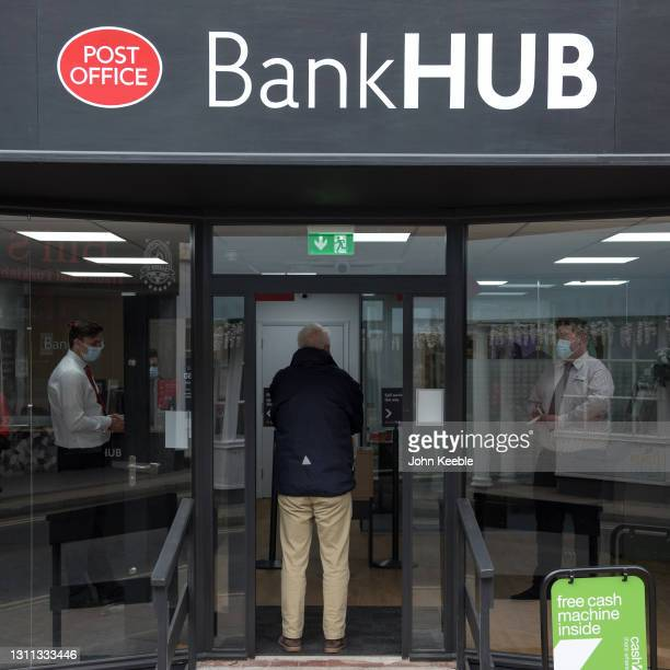 General view of the new Bank Hub on April 7, 2021 in Rochford, England. The new shared 'Banking Hub' organised by the 'Community Access to Cash' in...