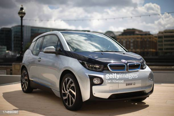 General view of the new BMW i3 after it's launch at Old Billingsgate Market on July 29, 2013 in London, England. The vehicle was launched as one of...