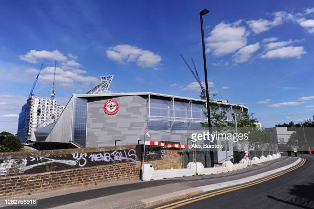 A general view of the new Brentford Community Stadium which is due to be open for the 2020/2021 season prior to the Sky Bet Championship Play Off...