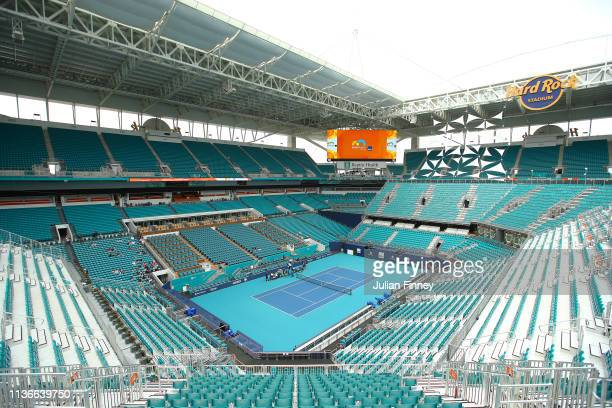 A general view of the new centre court stadium during day one of the Miami Open on March 18 2019 in Miami Gardens Florida