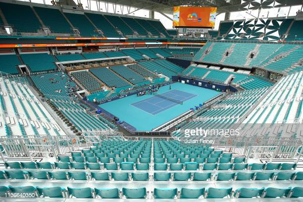 General view of the new centre court stadium during day one of the Miami Open on March 18, 2019 in Miami Gardens, Florida.