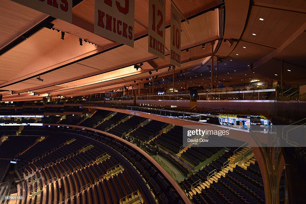 A general view of the new Chase Bridge at Madison Square Garden on November 3, 2013 at Madison Square Garden in New York City, New York.