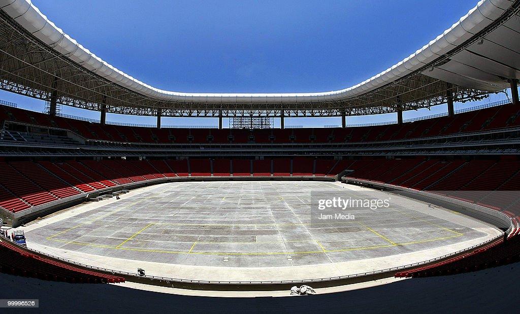 General view of the new Chivas Guadalajara stadium under construction on May 19, 2010 in Guadalajara, Mexico.
