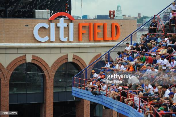 General view of the new Citi Field during the game against the Florida Marlins at Shea Stadium on September 28, 2008 in Flushing, New York. The...
