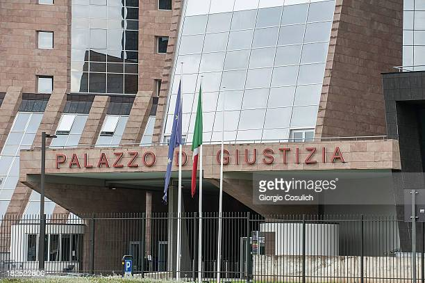 General view of the new Courthouse the day before the retrial of Amanda Knox and Raffaele Sollecito for the murder of Meredith Kercher on September...