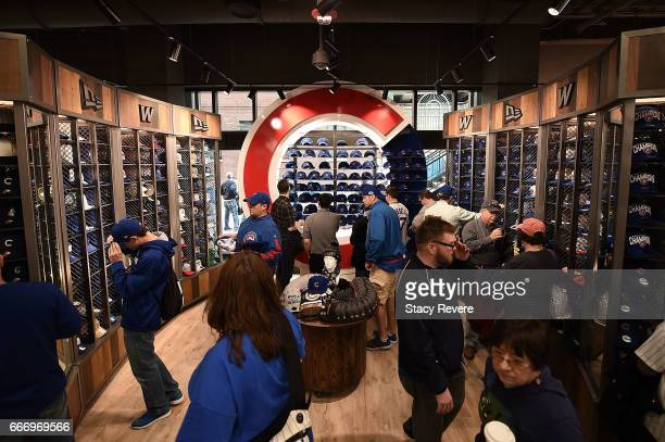 876a8d708b A general view of the new Cubs store as fans shop prior to the home opener