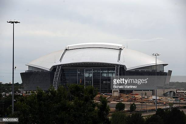 General view of the new Dallas Cowboys Stadium under construction on April 15, 2009 in Arlington, Texas.