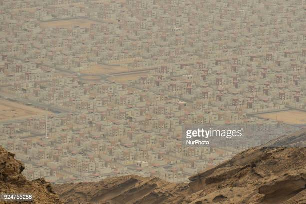 A general view of the new districts of Al Ain seen from the top of Jebel Hafeet On Sunday February 25 in Qasr Al Muwaiji Abu Dhabi United Arab...
