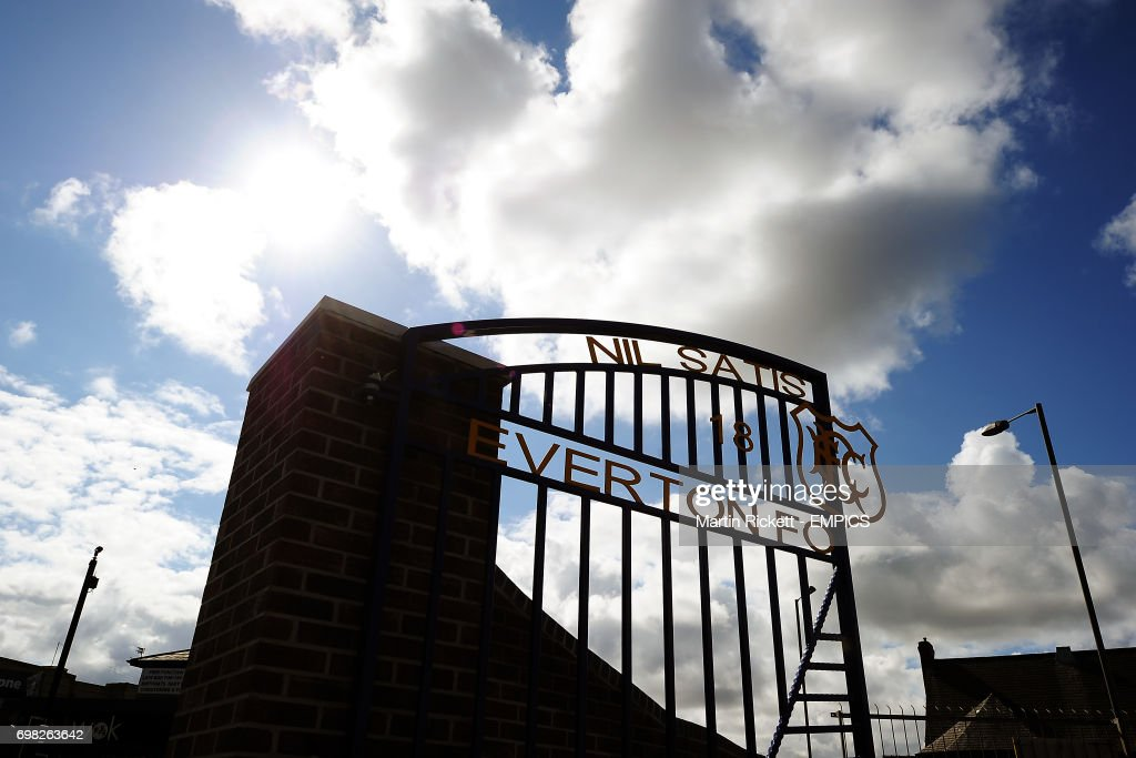 A general view of the new entrance to Goodison Park