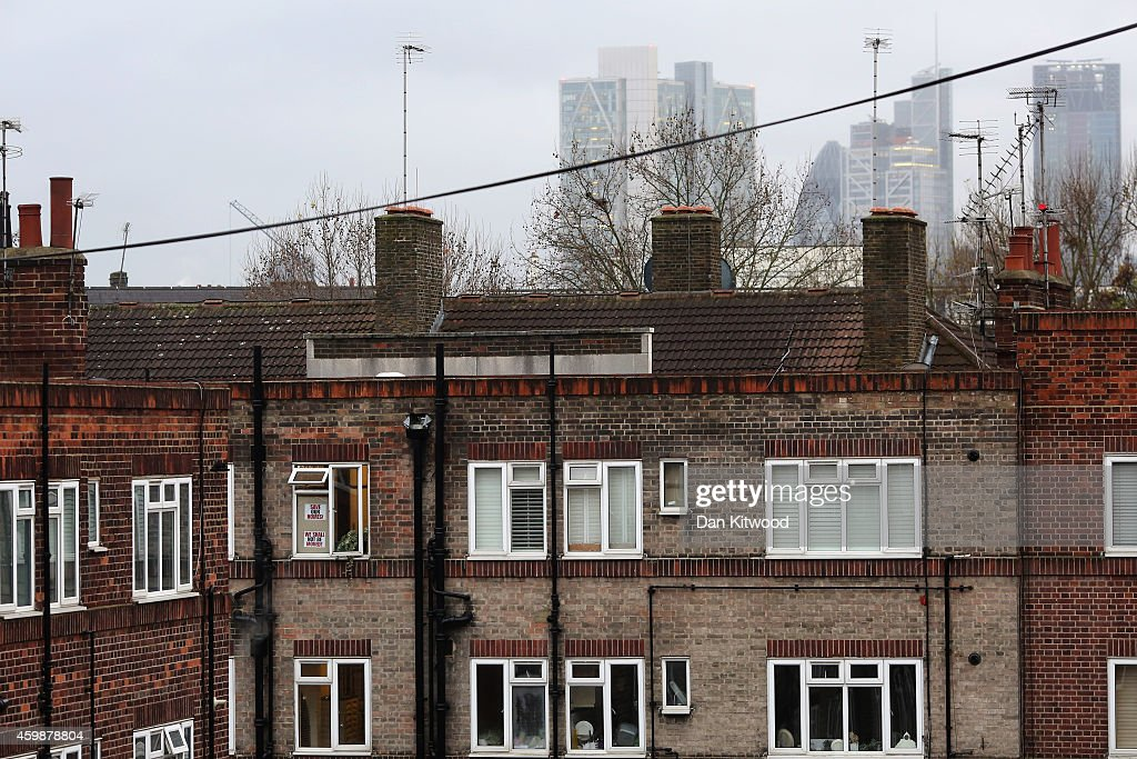 A general view of the New Era housing estate in East London on December 2, 2014 in London, England. On Monday many of the residents marched in central London before presenting a petition to 10 Downing Street asking for a reprieve against a US investment company, Westbrook's, who plan to evict 93 families from the estate. Westbrook's are said to be planning to evict the tenants, refurbish the estate and re-let the flats at full market value leaving many of the families in limbo, unable to afford the higher rents.