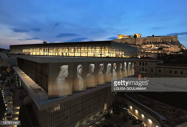 A general view of the new Greece's Acropolis museum building is pictured in Athens during the rehearsal of its opening ceremony on June 18 2009...