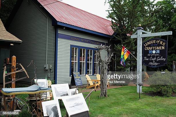 A general view of the New Hampshire League of Craftsmen Fine Art Gallery and Studio founded in 1932 and representing more than 750 fine artists on...
