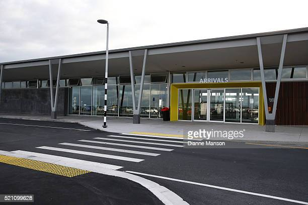 A general view of the new Invercargill airport terminal on April 14 2016 in Invercargill New Zealand The opening marks the completion of a $13...