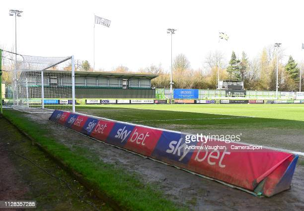 A general view of The New Lawn home of Forest Green Rovers prior to the Sky Bet League Two match between Forest Green Rovers and Lincoln City at The...