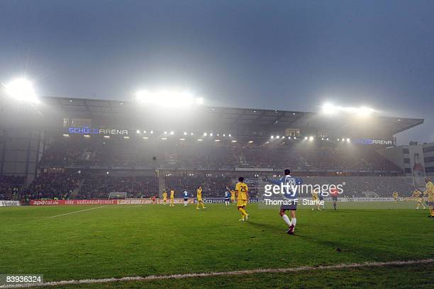 A general view of the new main stand after the Bundesliga match between Arminia Bielefeld and Borussia Dortmund at the Schueco Arena on December 6...