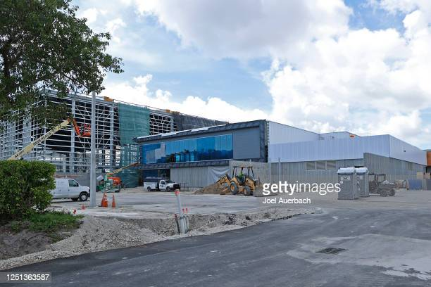 A general view of the new Miami Dolphins training facility which is located across the street from Hard Rock Stadium on June 22 2020 in Miami Gardens...
