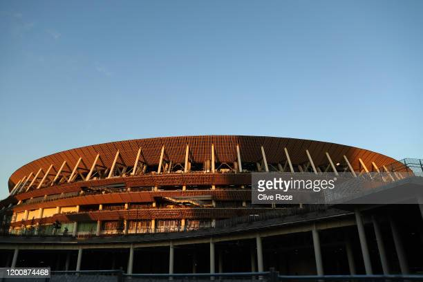 General view of the New National Stadium in Tokyo on January 21, 2020 in Tokyo, Japan.