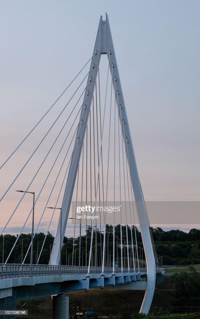 Preparations Are Made For Multi-million Sunderland Bridge Opening : News Photo