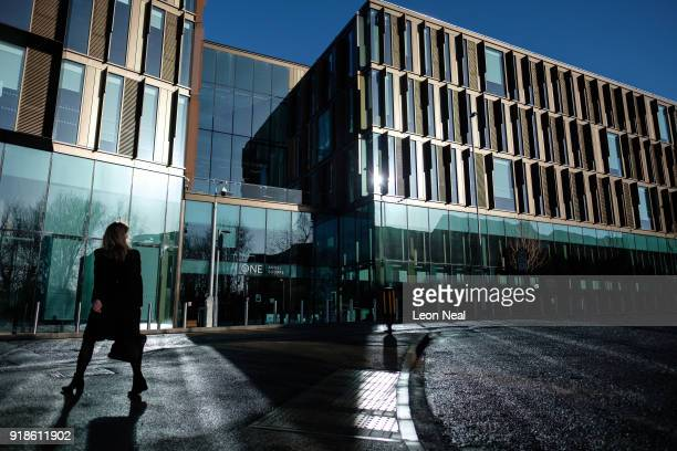 A general view of the new One Angel Square office block near the town centre on February 15 2018 in Northampton United Kingdom Northamptonshire...
