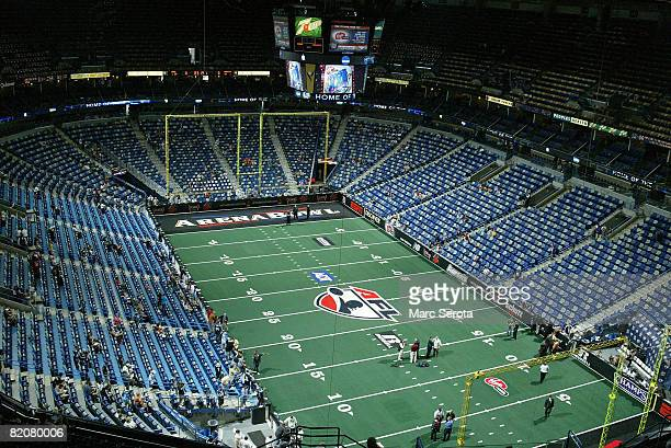 General view of the New Orleans Arena before the San Jose SaberCats and the Philadelphia Soul play Arena Bowl XXII at the New Orleans Arena on July...