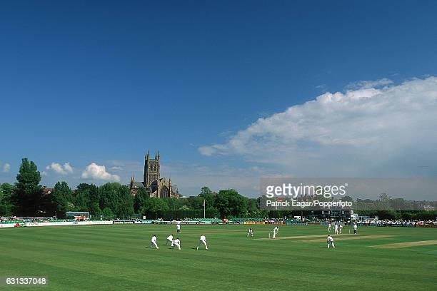 A general view of the New Road cricket ground during the tour match between Worcestershire and the West Indies at Worcester 18th May 1995