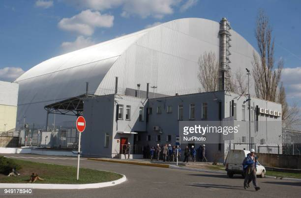 A general view of the new Safe Confinement over the 4th block of the Chernobyl nuclear plant in Ukraine 20 April 2018 Ukraine will mark the 32nd...