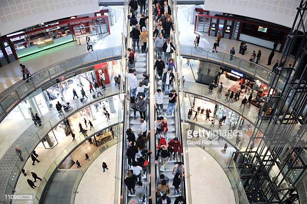 A general view of the new Shopping Mall 'Las Arenas' on March 28 2011 in Barcelona Spain 'Las Arenas' was a bullring between 1900 and 1977 'Las...