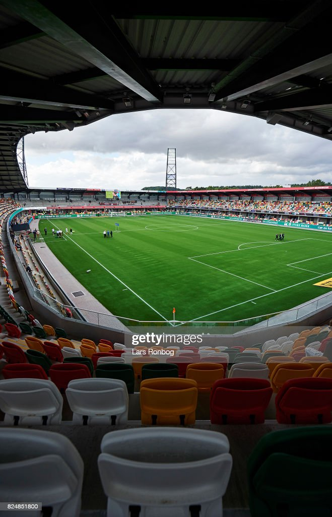 General view of the new stadium prior to the Danish Alka Superliga match between Silkeborg IF and AGF Aarhus at Jysk Park on July 31, 2017 in Silkeborg, Denmark.