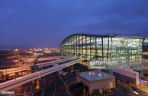 A general view of the new Terminal 5 at Heathrow Airport prior to its official opening on March 14 2008 in London England