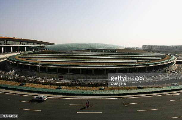A general view of the new terminal building T3 at the Beijing Capital International Airport on February 28 2008 in Beijing China T3 officially...