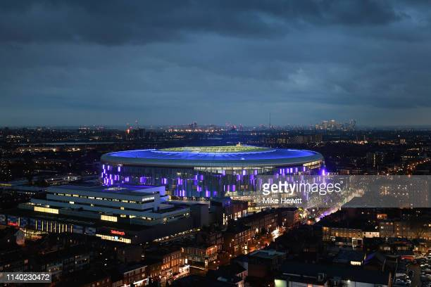 A general view of the new Tottenham Hotspur Stadium during the Premier League match between Tottenham Hotspur and Crystal Palace at Tottenham Hotspur...