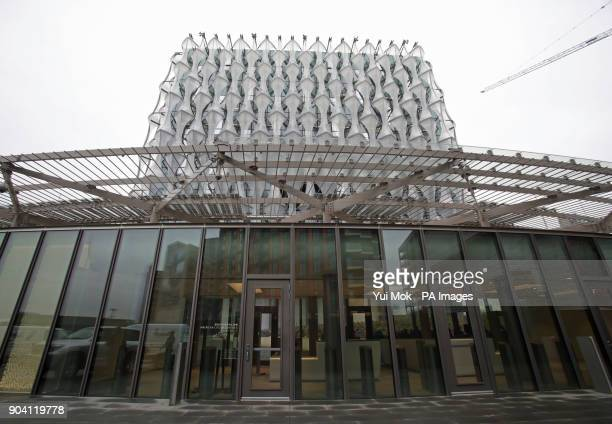 A general view of the new US Embassy in Nine Elms London after Mr Trump confirmed he will not travel to the UK to open the new building and hit out...