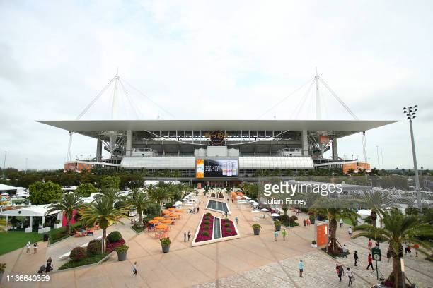 A general view of the new venue during day one of the Miami Open on March 18 2019 in Miami Gardens Florida