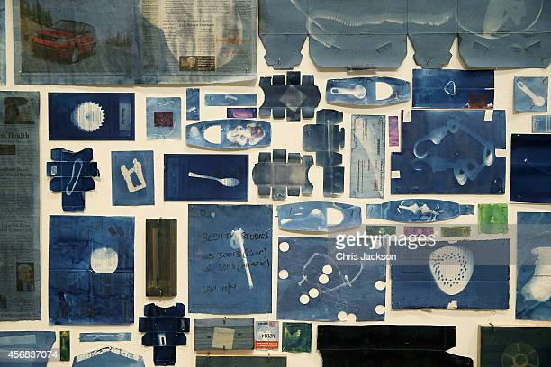 General view of the new Walead Beshty commission at The Curve, Barbican Centre showing from the 9 October 2014 until the 8th February 2015 at...