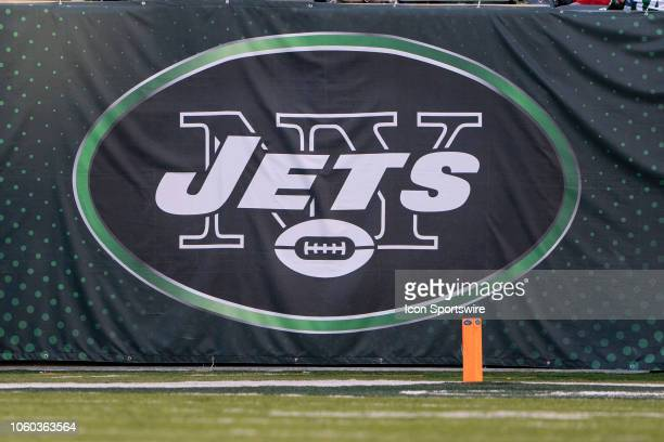 A general view of the New York Jets Logo at the Buffalo Bills versus the New York Jets game on November 11 at MetLife Stadium in East Rutherford NJ