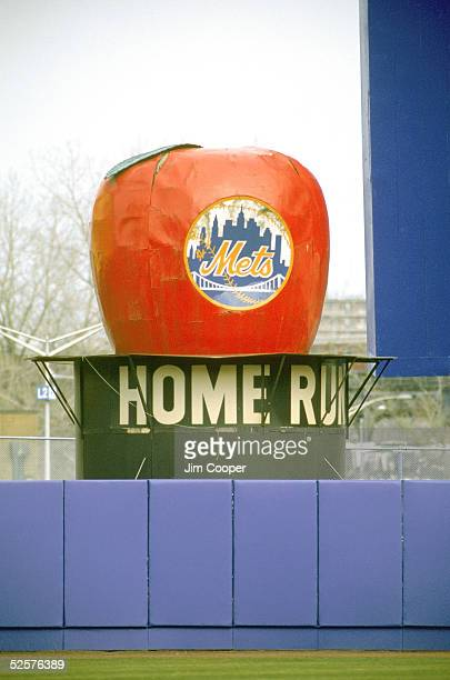 General view of the New York Mets Home Run Apple on April 12, 1992 at Shea Stadium in Flushing, New York