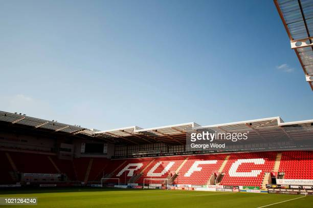 General view of The New York Stadium home of Rotherham United prior to the Sky Bet Championship match between Rotherham United and Hull City at The...