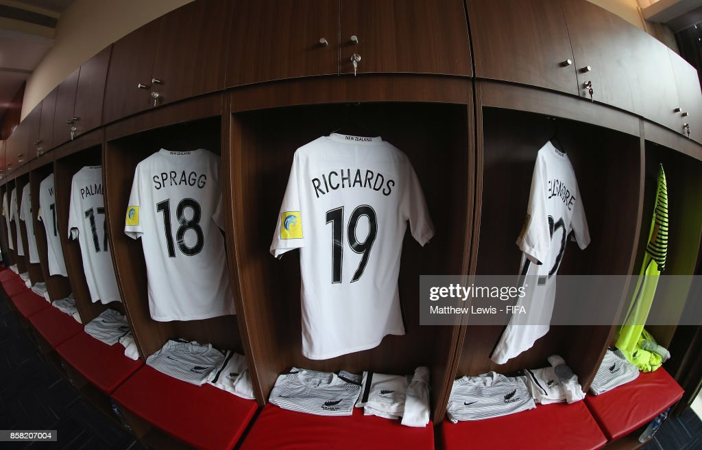 A general view of the New Zealand dressing room ahead of the FIFA U-17 World Cup India 2017 group B match between New Zealand and Turkey at Dr DY Patil Cricket Stadium on October 6, 2017 in Mumbai, India.
