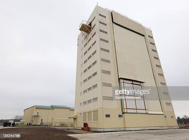 A general view of the newly opened military antimissile radar station Voronezh MD on November 29 2011 near Kaliningrad Russia President Dmitry...