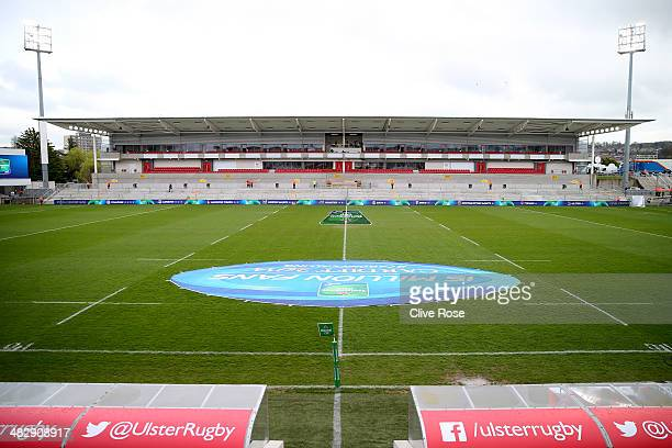 A general view of the newly refurbished stadium prior to the Heineken Cup QuarterFinal match between Ulster and Saracens at Ravenhill on April 5 2014...